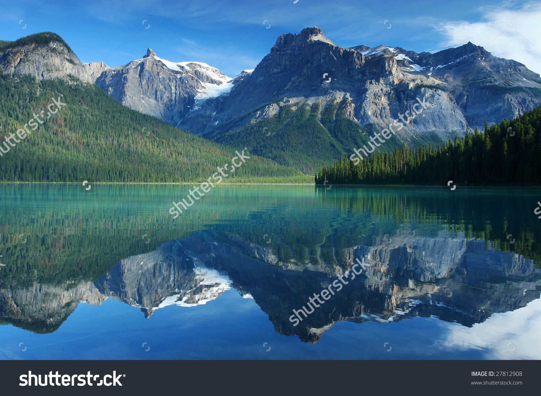 Emerald Lake Yoho National Park Rocky Stock Photo 27812908.
