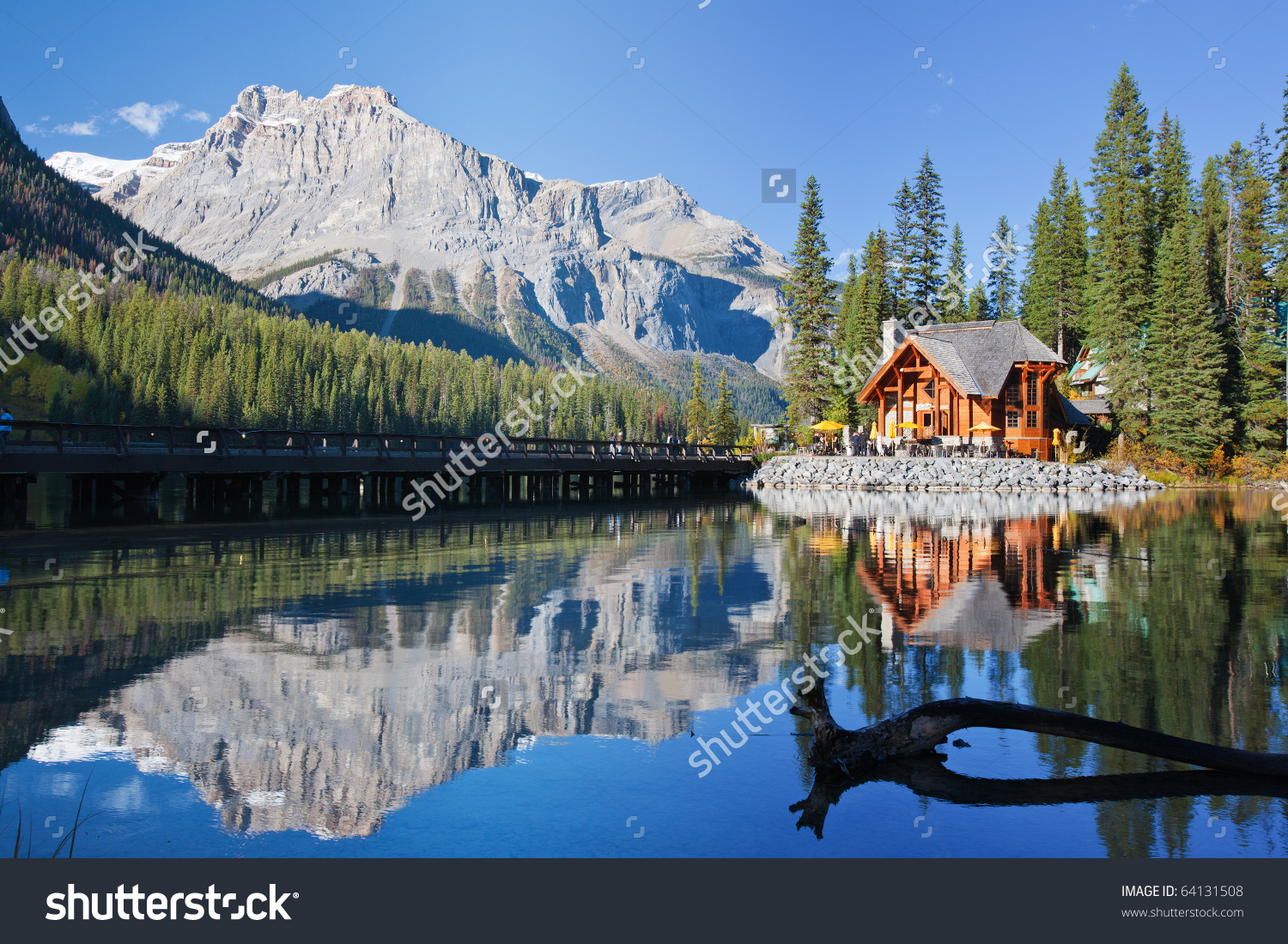 Emerald Lake Alberta Canadian Rockies Stock Photo 64131508