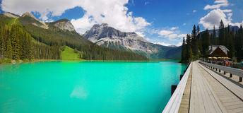 Panorama Of Emerald Lake, Yoho National Park, British Columbia.