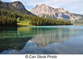 Picture of Incredible Emerald Lake in the rockies, British.
