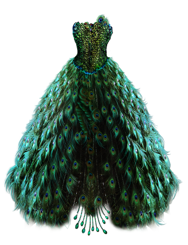 Emerald Peacock Dress by BrookeGillette on DeviantArt.