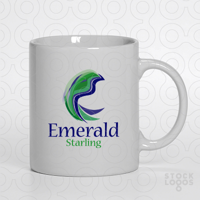 Exclusive Customizable Logo For Sale: Emerald Starling.