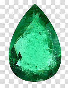 Gemstones, emerald stone transparent background PNG clipart.