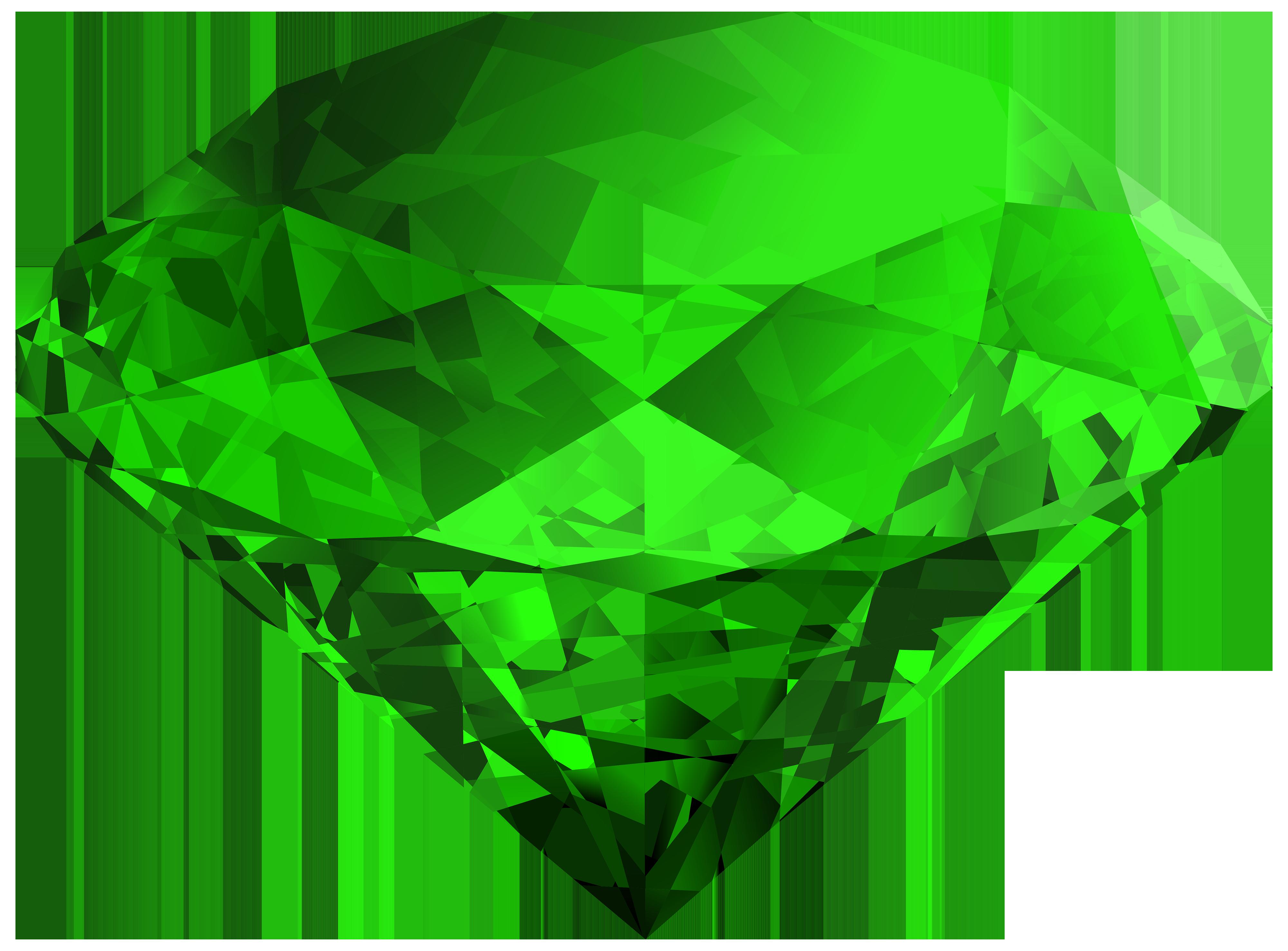 Green gem clipart.