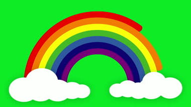 Animated Rainbow Is Created As Each Colour Beam Emerge Clipart.
