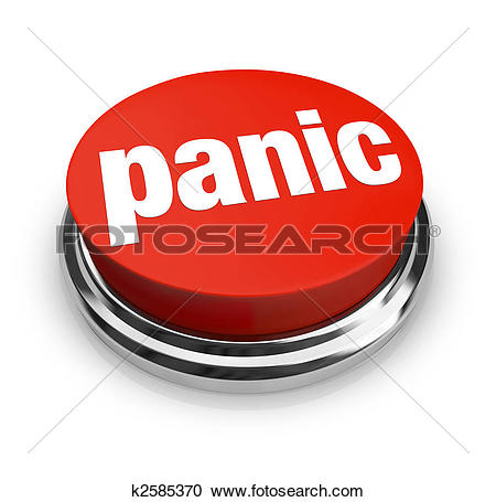Clipart of Panic Button on Computer Keyboard k2595951.