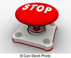 Press red depress push button emergency danger Illustrations and.