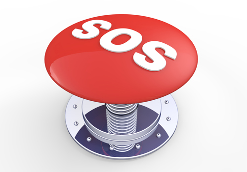SOS button.