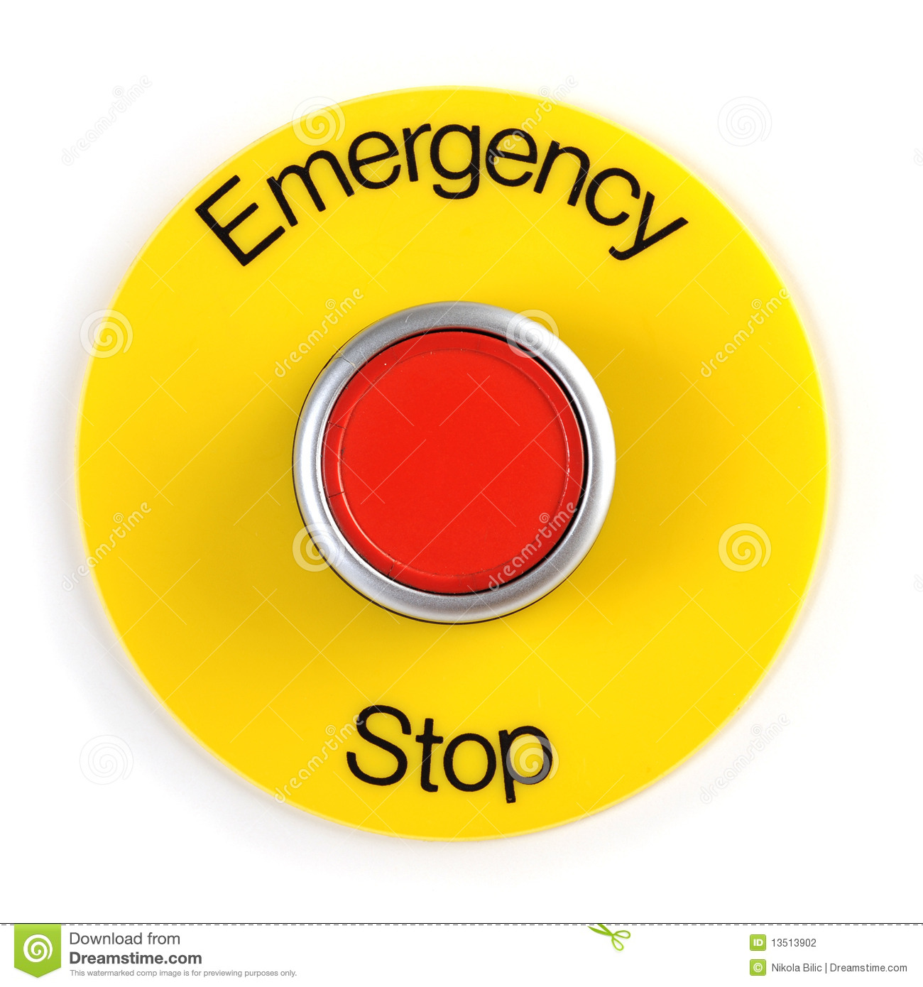 Emergency Stop Button Clipart.