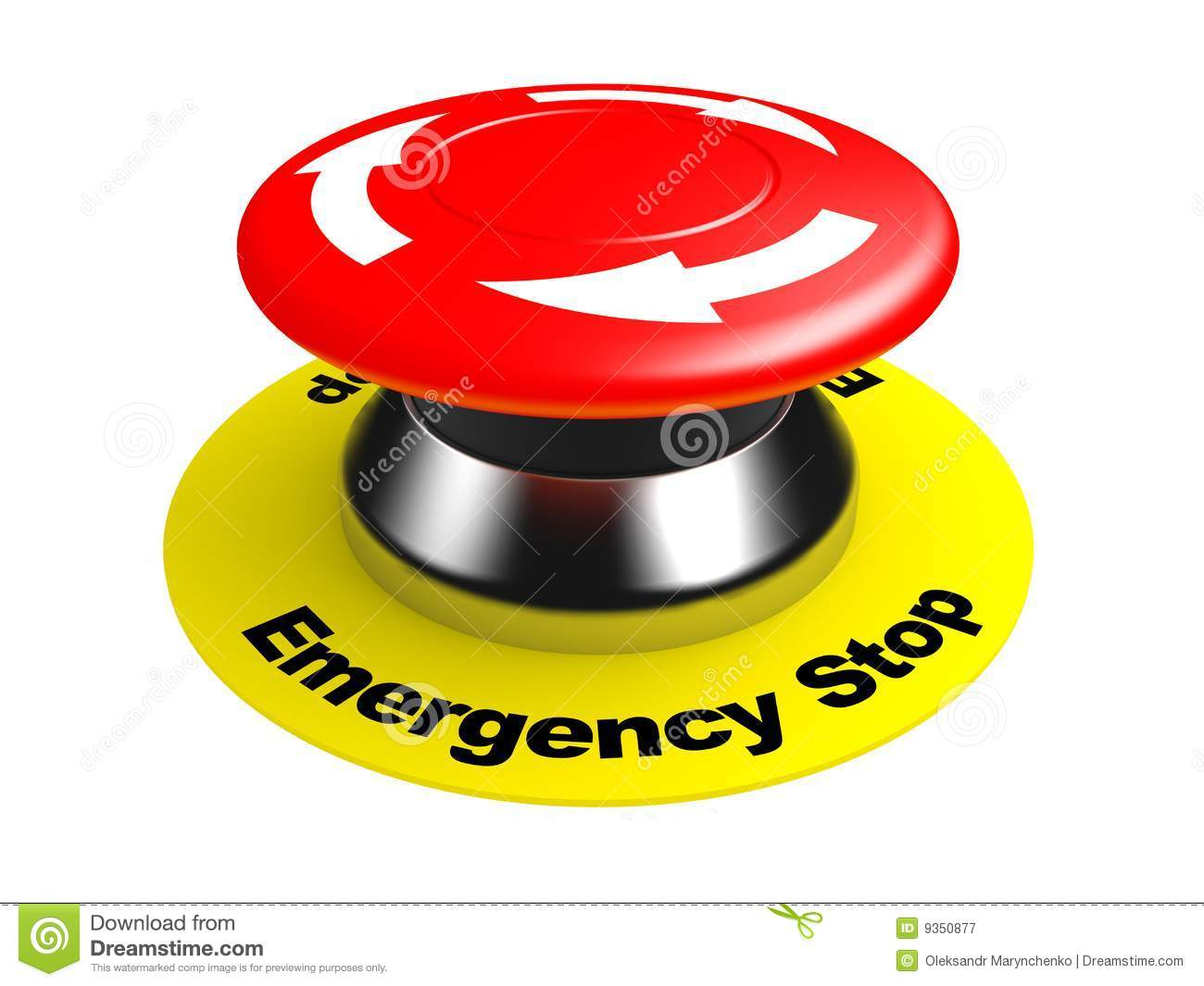 Emergency Stop Button Stock Illustrations.