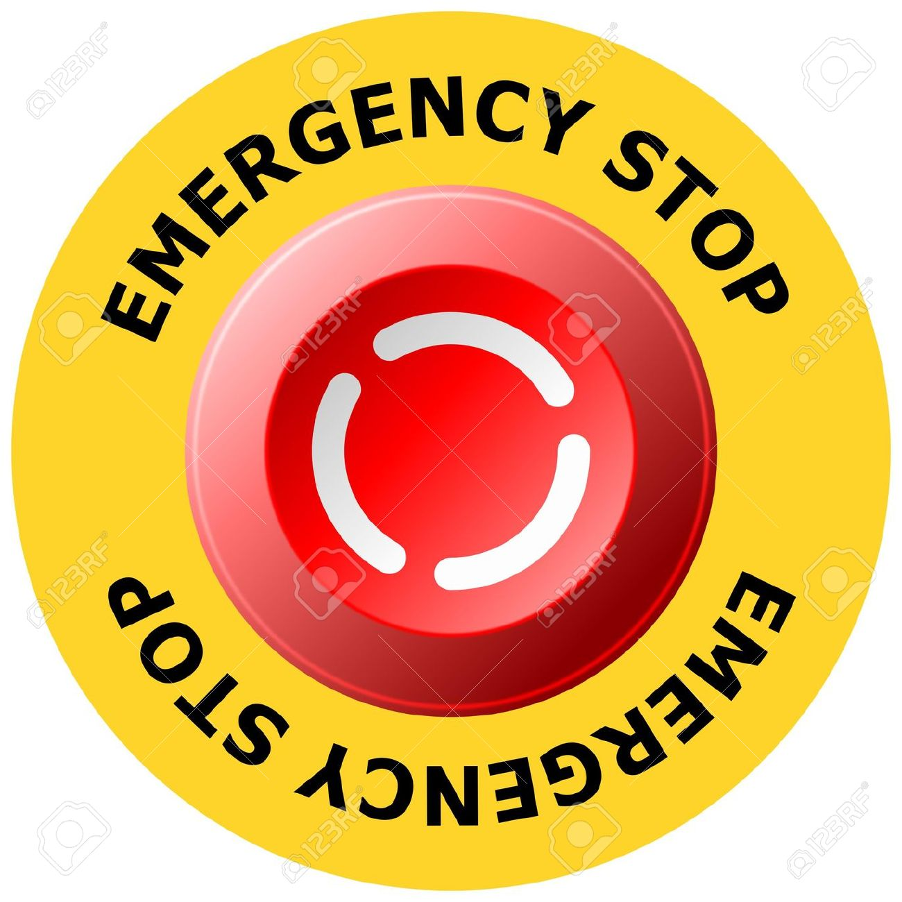 Emergency Stop Button Royalty Free Cliparts, Vectors, And Stock.