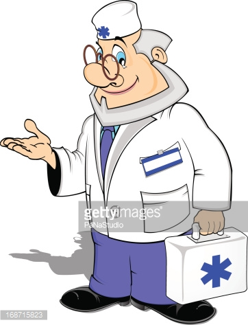 Emergency Doctor Vector Illustration stock vectors.