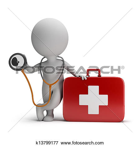 Clip Art of Medic on scooter. Emergency medical service concept.