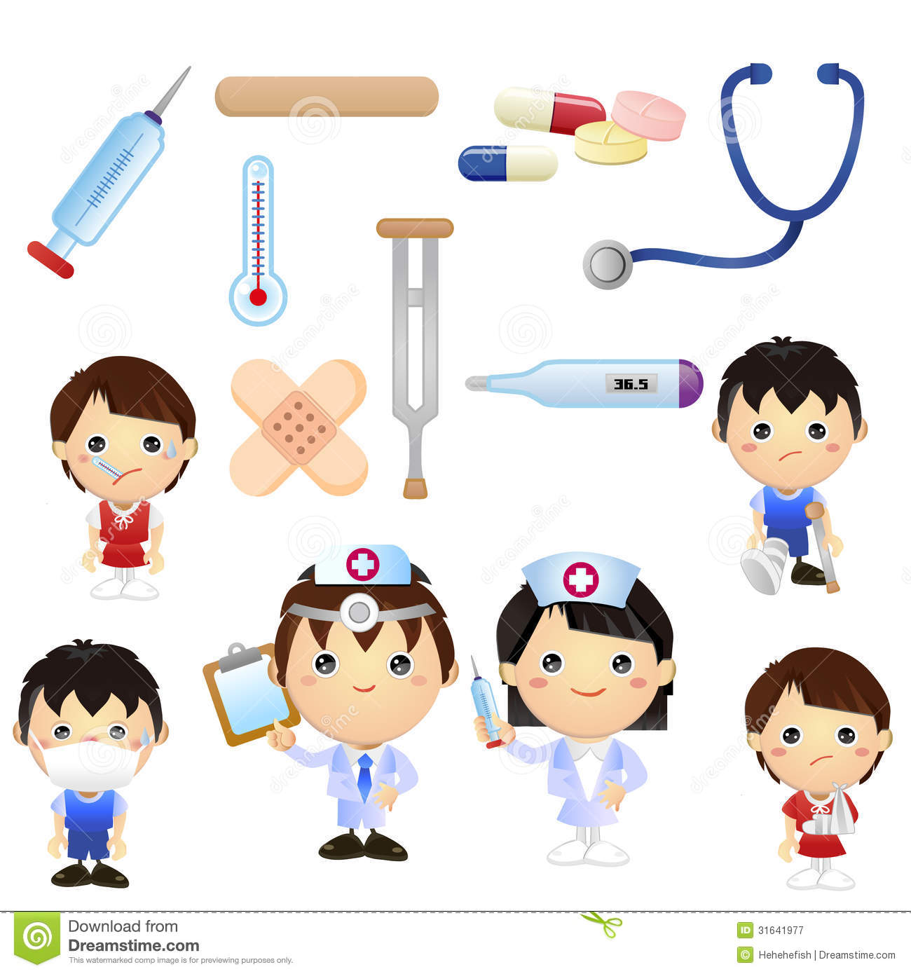 Little Doctor Kids Royalty Free Stock Photography.