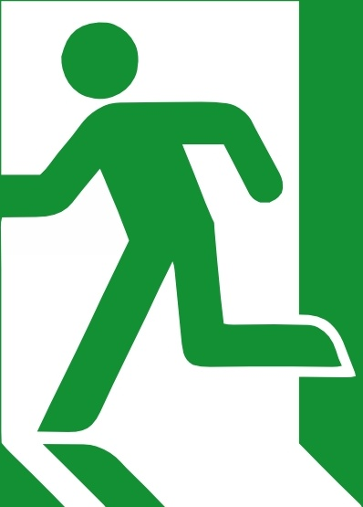 Emergency Exit Sign clip art Free vector in Open office drawing.