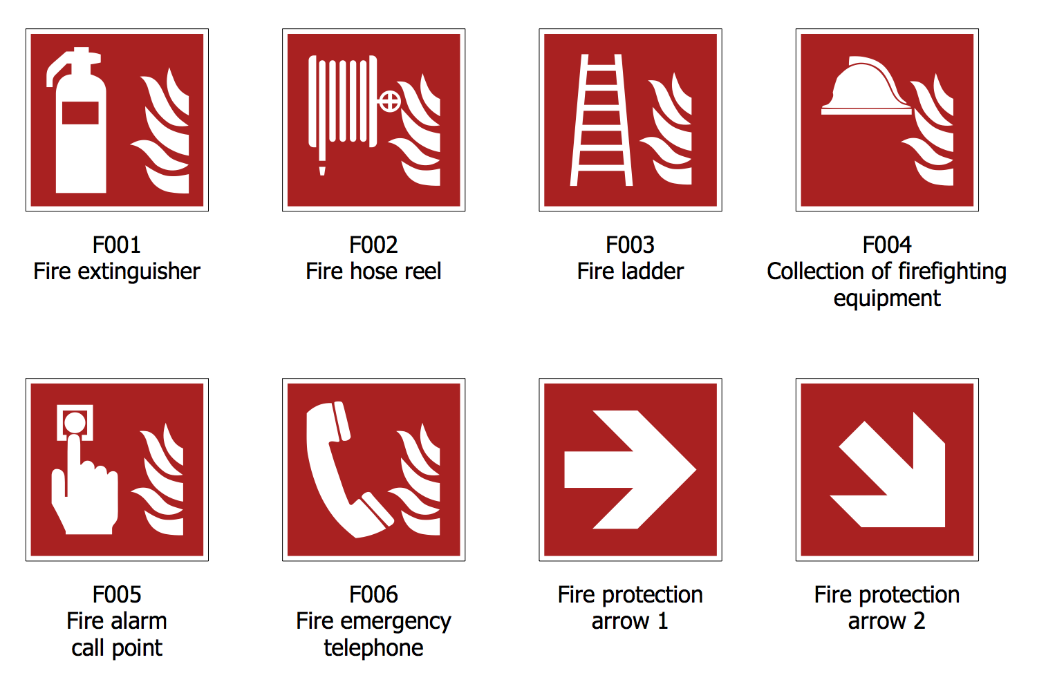 Fire and Emergency Plan #FireSafety #Signs #Emergency.
