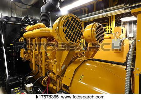 Stock Image of emergency power generator k17578365.