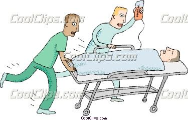 Patient On Stretcher Clip Art.