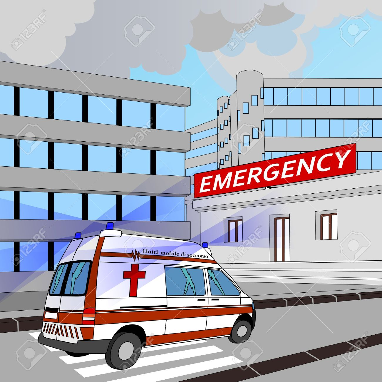 Clipart emergency room.