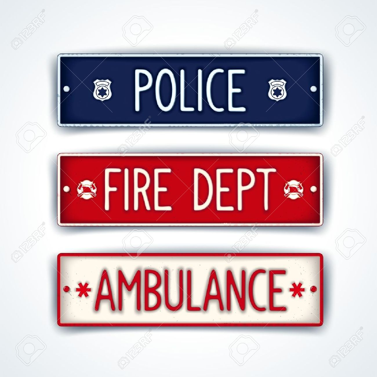 Ñar License Plate For Emergency Services.