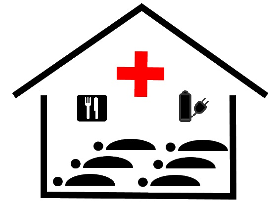 Clip Art Images Of Emergency Shelters Clipart.