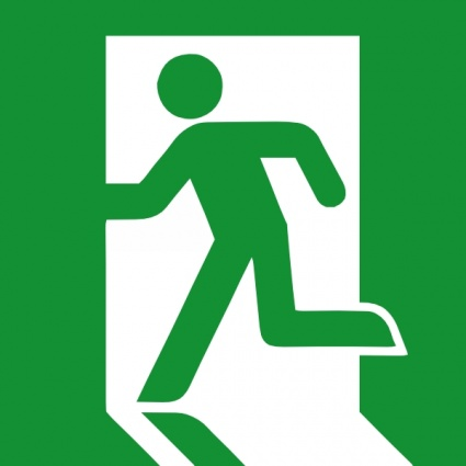 Emergency Fire Exit Vector.