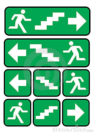 Emergency Exit Stairs Stock Illustrations.