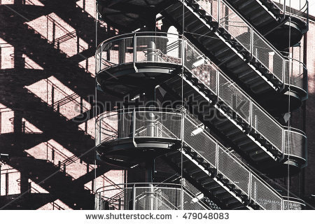 Emergency Staircase Stock Photos, Royalty.
