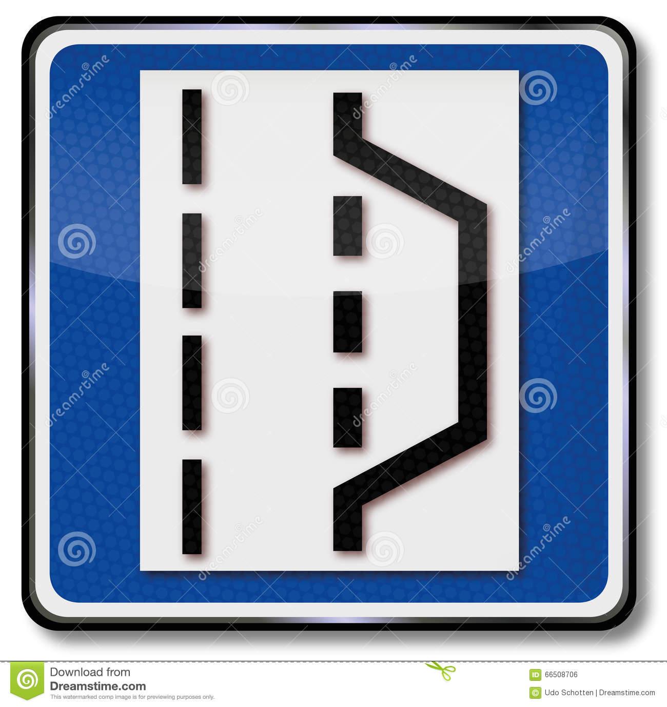 Highway Emergency Stop Bay Stock Vector.