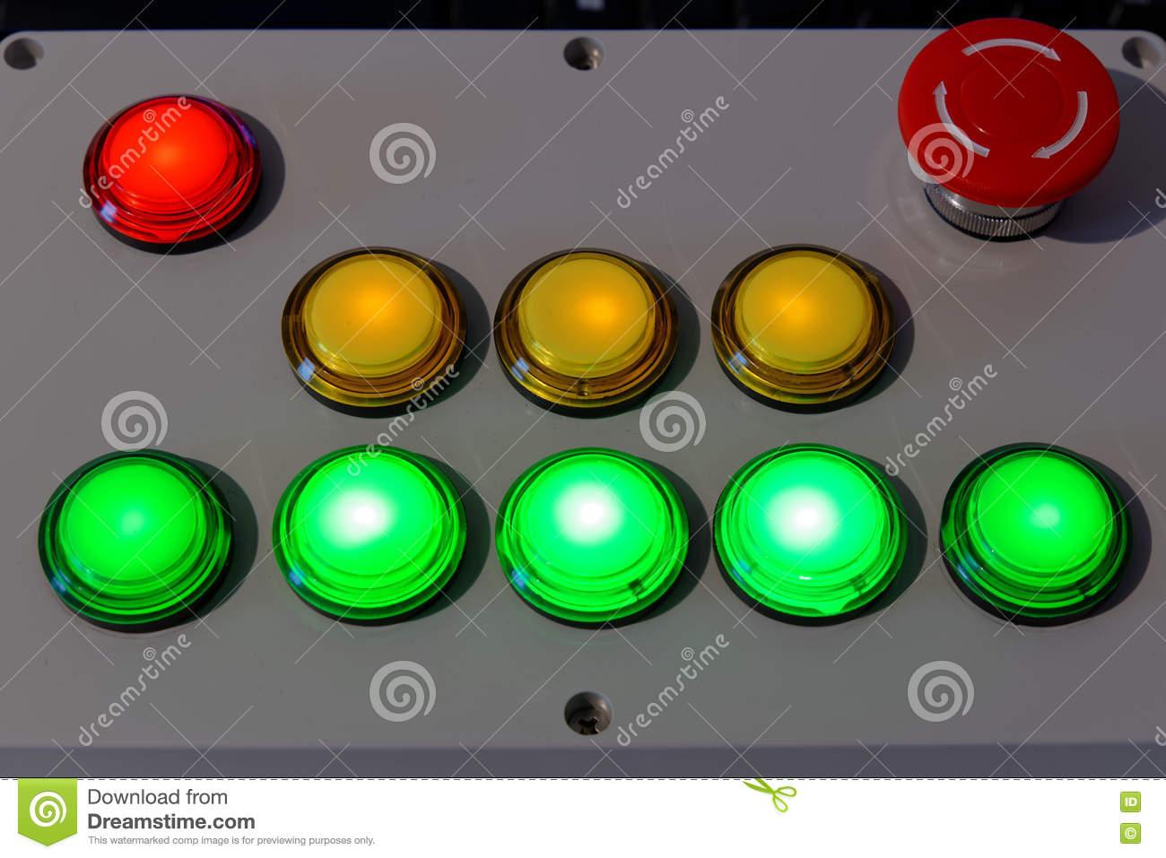 Push Button Control Unit Stock Illustration.