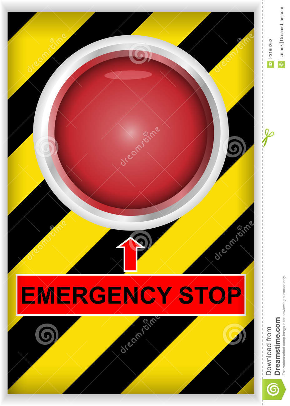 Emergency Stop Button Stock Photography.