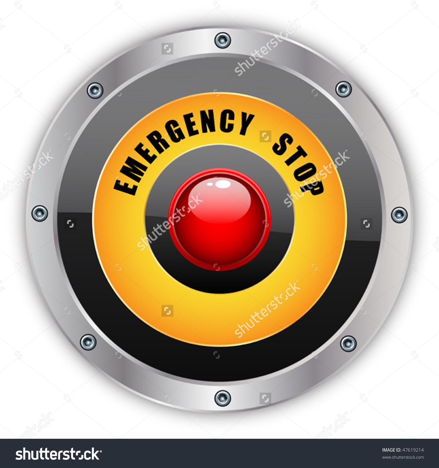 Emergency Stop Button Eps 10 Stock Vector 47619214.