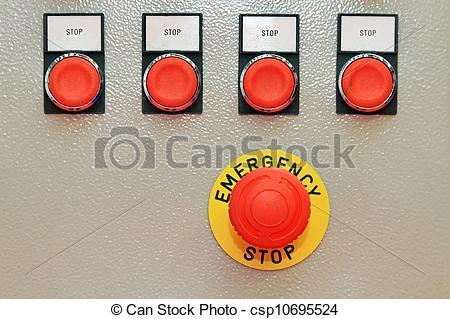 Stock Photo of Emergency stop.