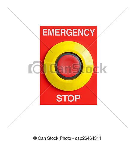 Clipart of emergency stop button csp26464311.