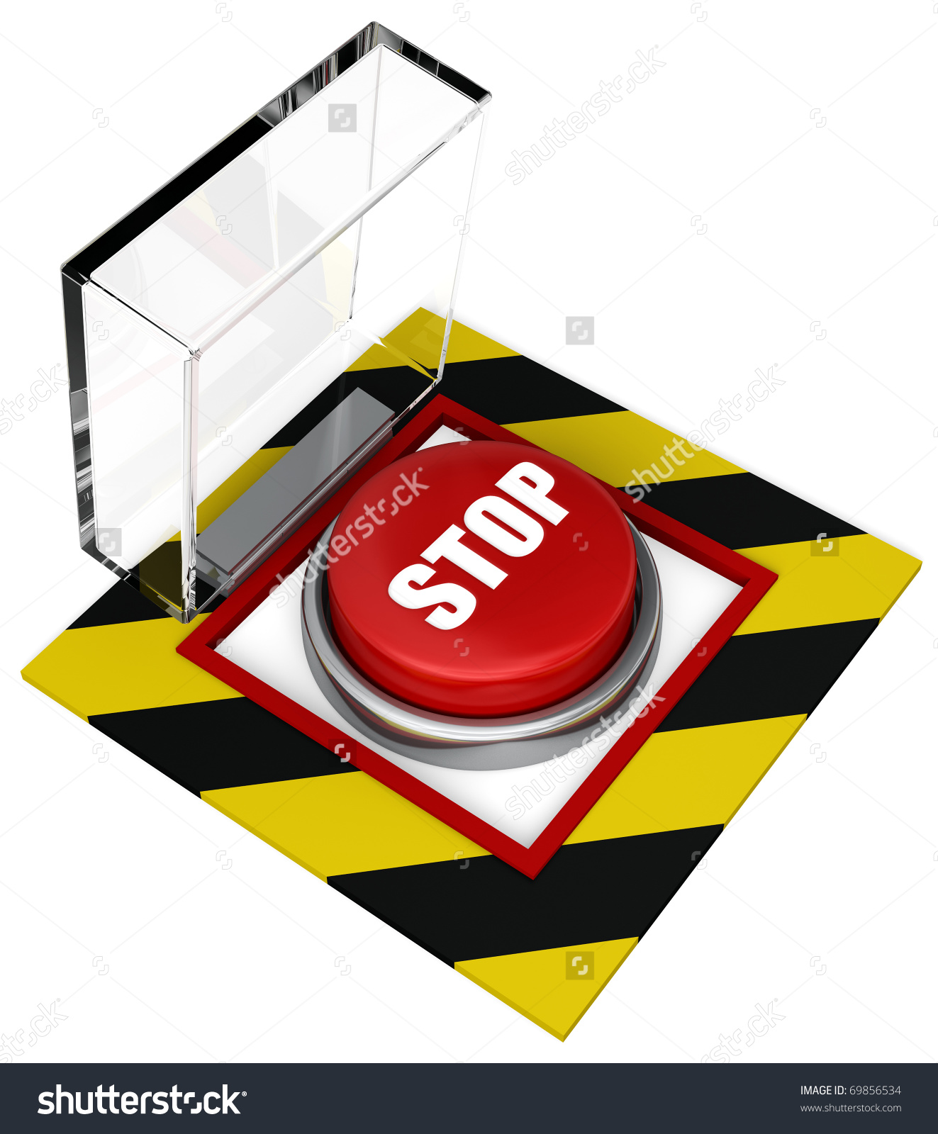 Covered Emergency Stop Button Plastic Cover Stock Illustration.