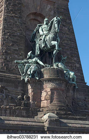 """Stock Photography of """"Equestrian statue of Kaiser Wilhelm I."""