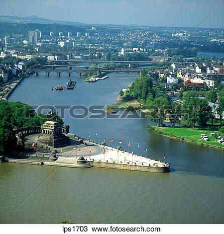 Stock Photo of 08 Deutsches Eck Confluence Of The Rhine And Mosel.