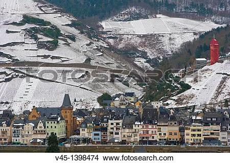 Stock Photo of Zell, Mosel, Moselle, Valley, Rhineland.