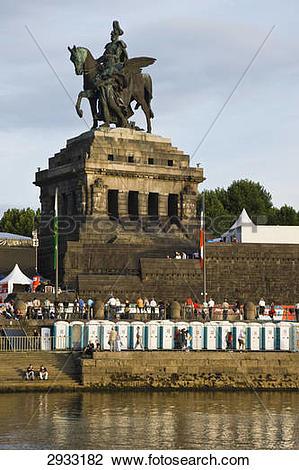 Stock Photo of Kaiser Wilhelm I, Deutches Eck, Koblenz, Germany.
