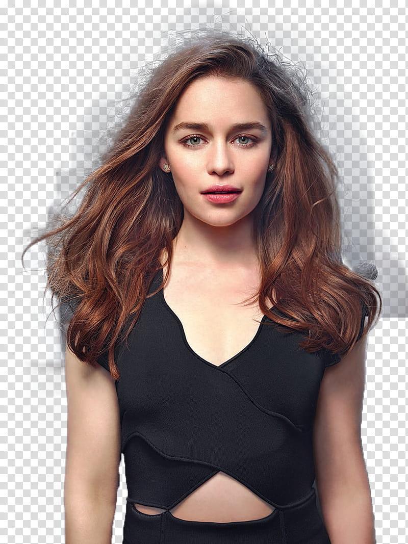 Emilia Clarke transparent background PNG clipart.