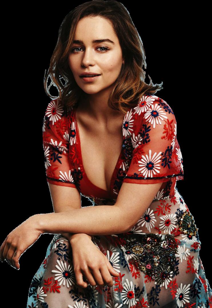 Download Emilia Clarke PNG Transparent Image.
