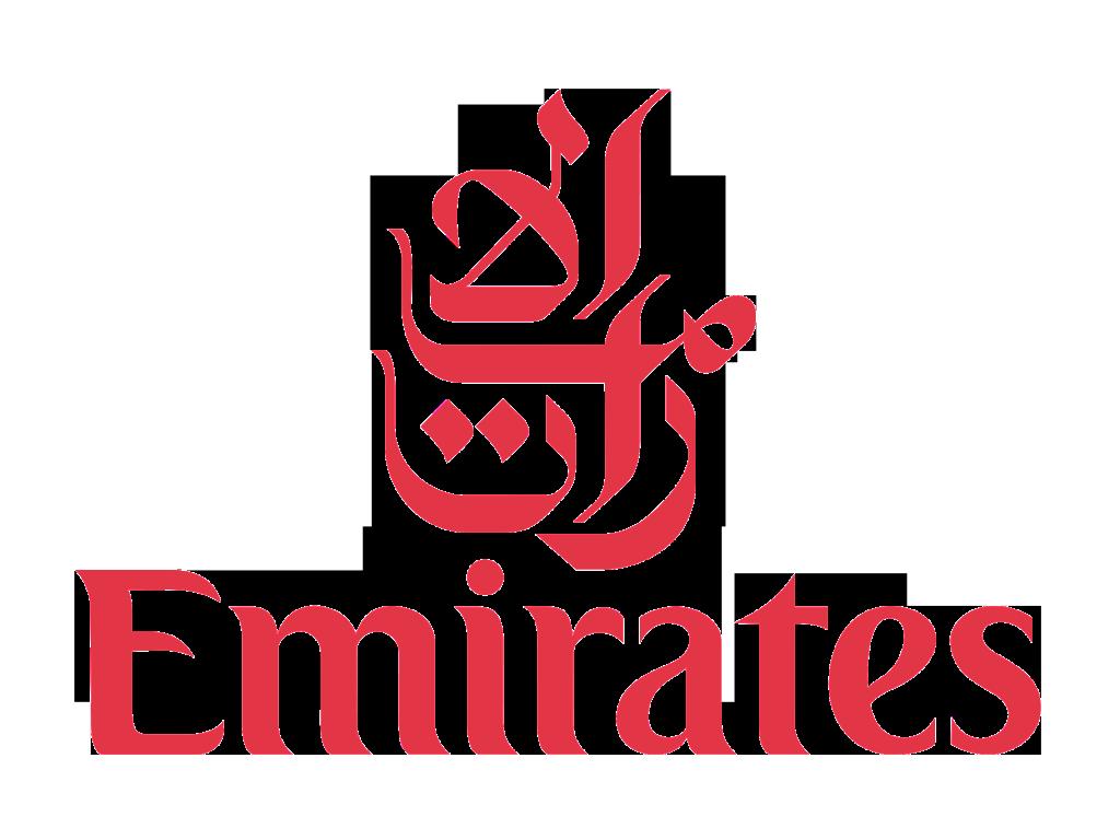 Emirates logo and Wordmark.