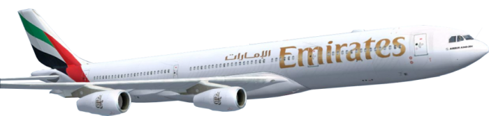 Emirates Plane Png Vector, Clipart, PSD.