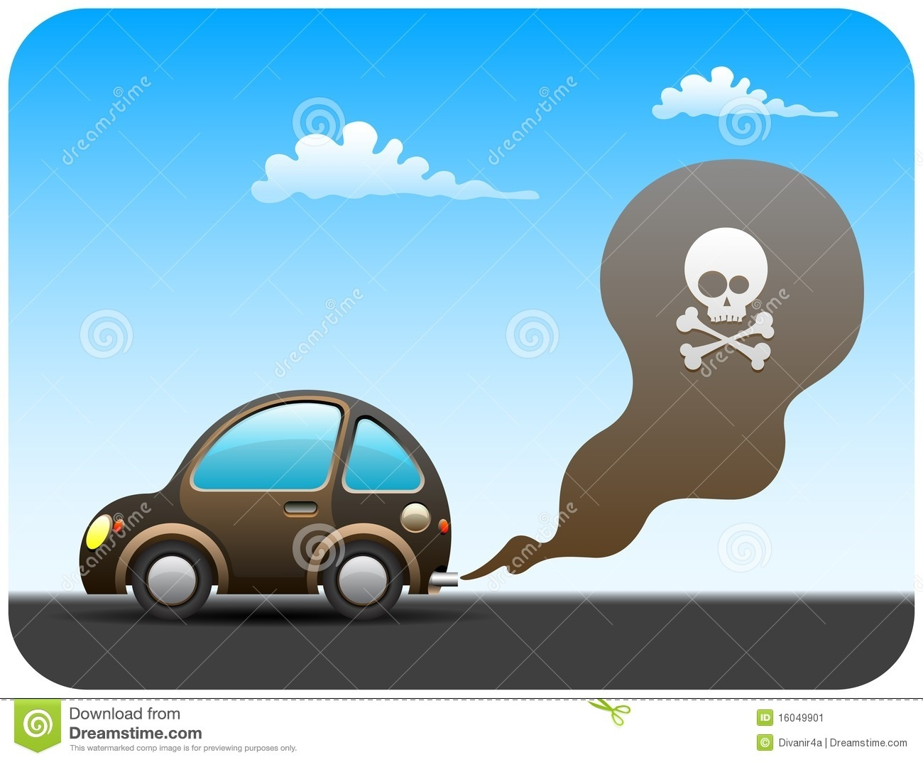 Car Emission Clipart.