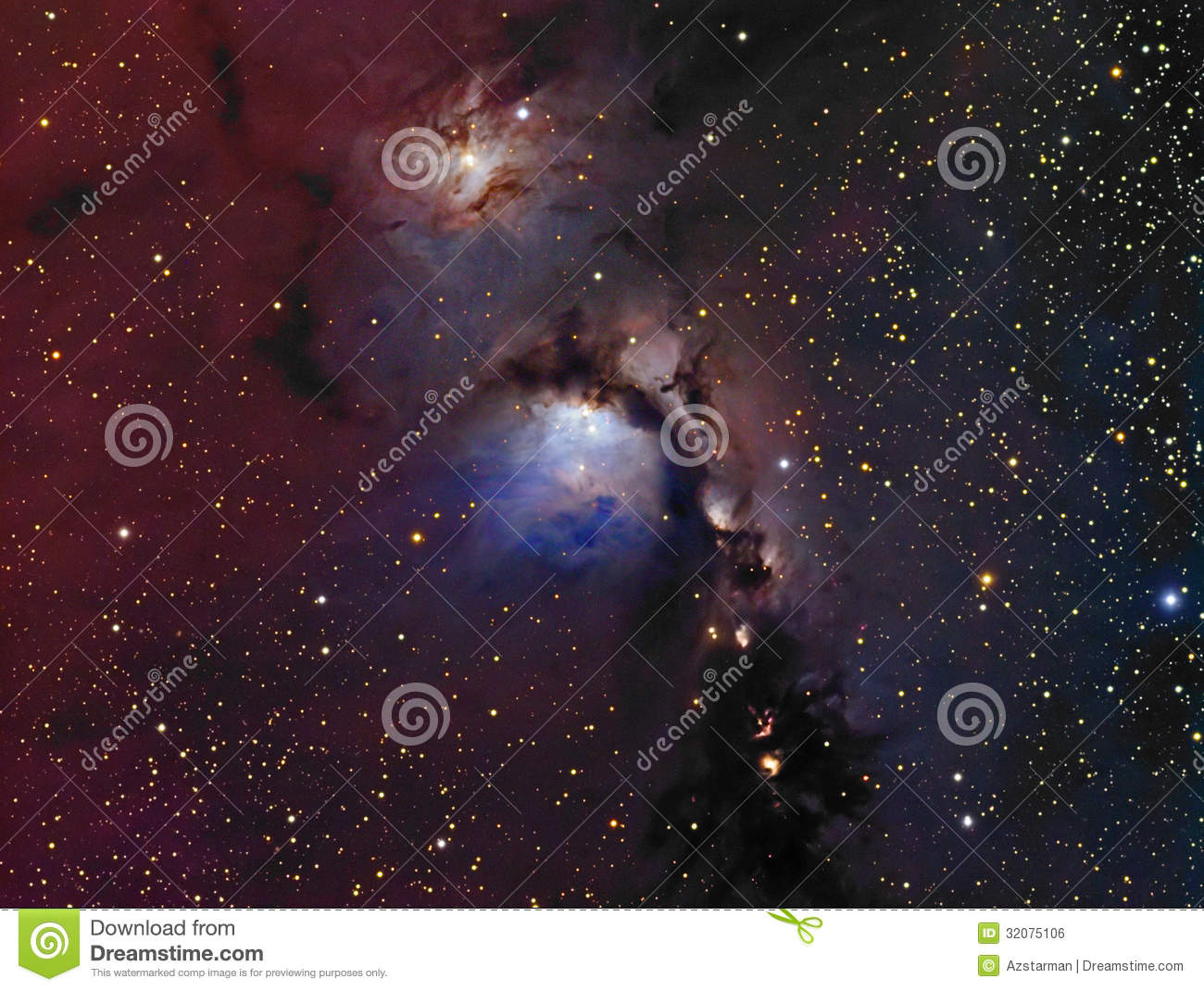 Reflection nebula clipart.