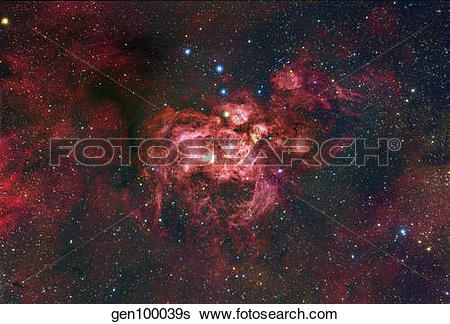 Stock Images of NGC 6357, an emission nebula located in the.