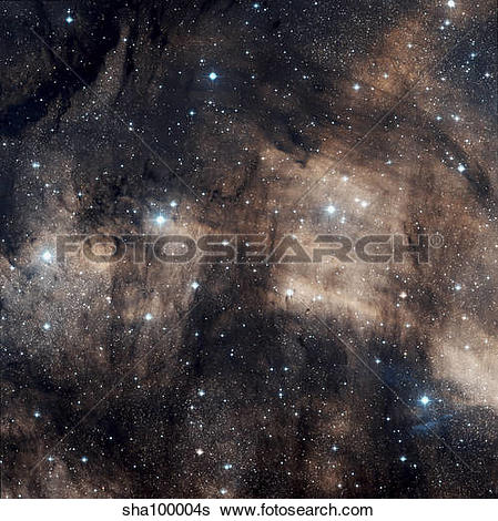 Stock Images of IC 5068, a faint emission nebula located in the.