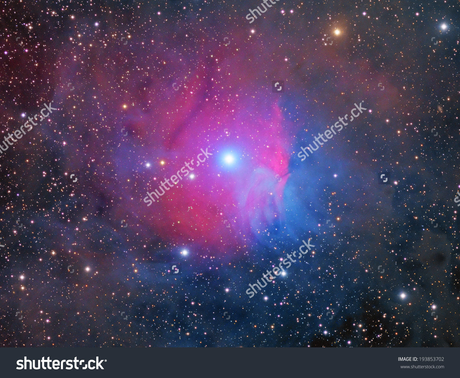 Raspberry Nebula Emission Reflection Nebula About Stock Photo.
