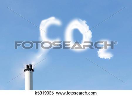 Stock Image of CO2 emissions k5319035.