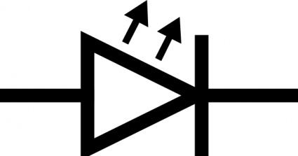 Light Emitting Diode Symbol.